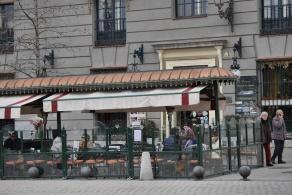 La terraza del Café de Oriente